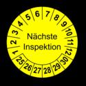 Nächste Inspektion, gelb
