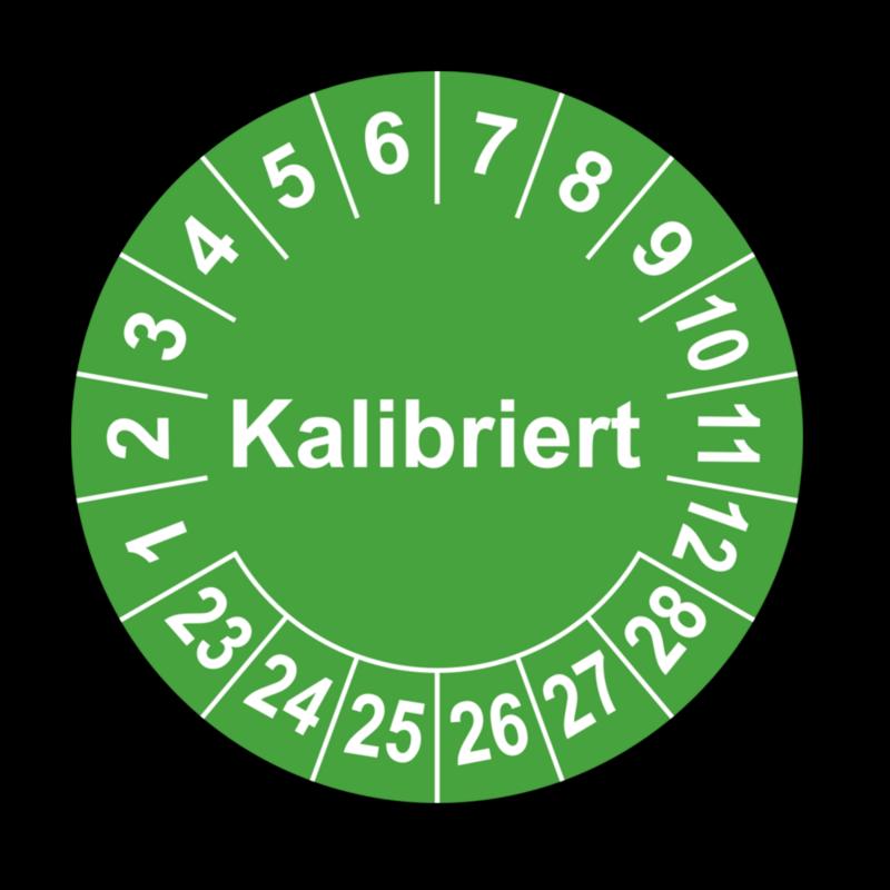 Kalibriert, grün