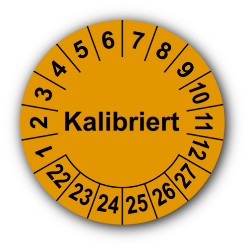 Kalibriert, orange