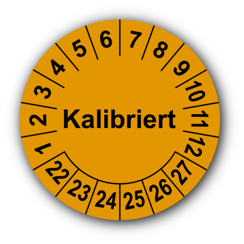 Kalibriert, orange