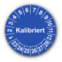 Kalibriert, blau