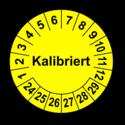 Kalibriert, gelb
