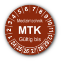 Medizintechnik MTK Gültig bis, braun