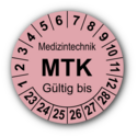 Medizintechnik MTK Gültig bis, rosa