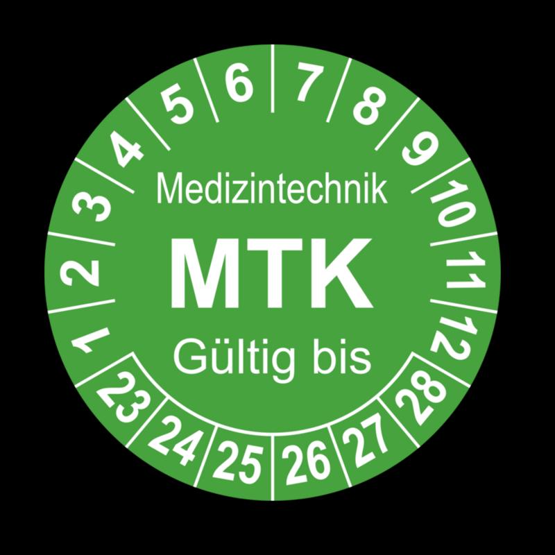 Medizintechnik MTK Gültig bis, grün