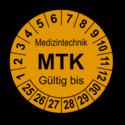 Medizintechnik MTK Gültig bis, orange