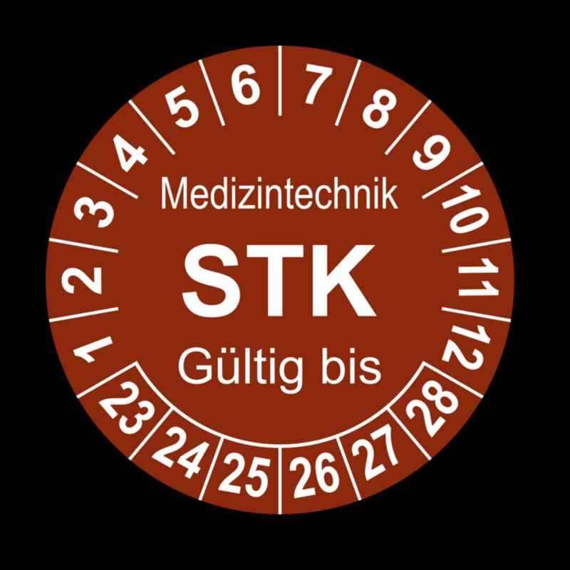 Medizintechnik STK Gültig bis, braun