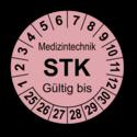 Medizintechnik STK Gültig bis, rosa