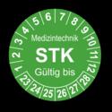 Medizintechnik STK Gültig bis, grün