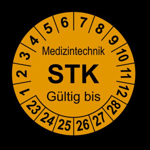 Medizintechnik STK Gültig bis, orange
