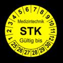 Medizintechnik STK Gültig bis, gelb