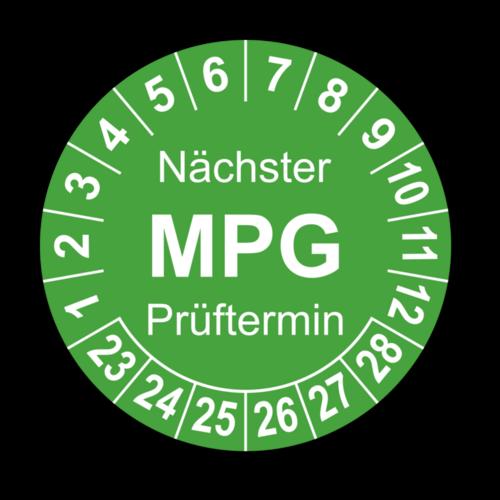 Nächster MPG Prüftermin, grün