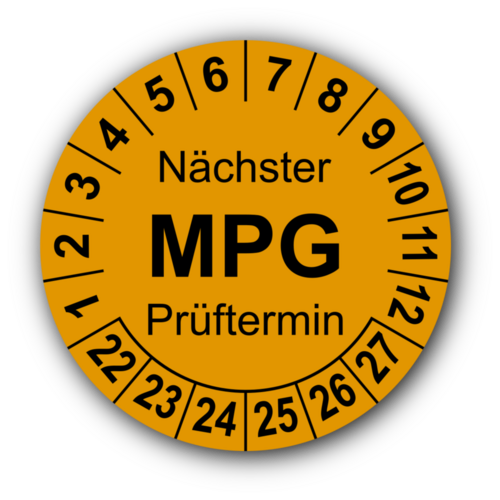 Nächster MPG Prüftermin, orange