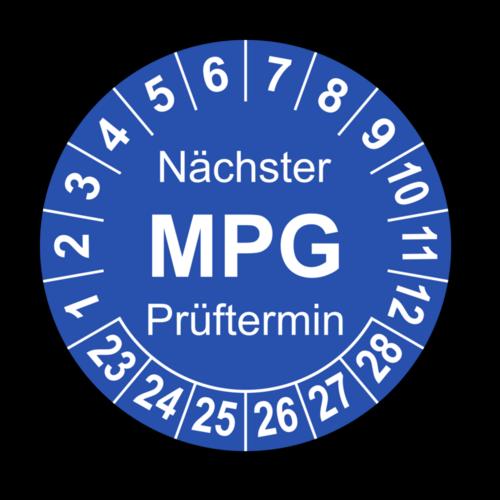 Nächster MPG Prüftermin, blau