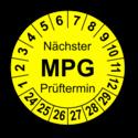 Nächster MPG Prüftermin, gelb