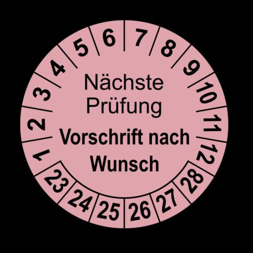 Nächste Prüfung (Vorschrift nach Wunsch), rosa