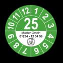 Jahresprüfplakette mit zweistelliger Jahreszahl, 2022, mit Wunschtext