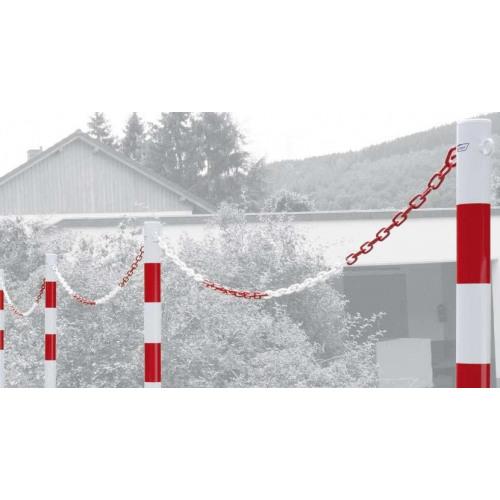 Absperrpfosten Ø 60 mm, zum Aufdübeln, 0 bis 2 Ösen