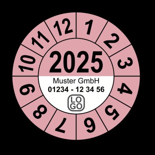 Jahresprüfplakette mit vierstelliger Jahreszahl, 2022, mit Wunschtext
