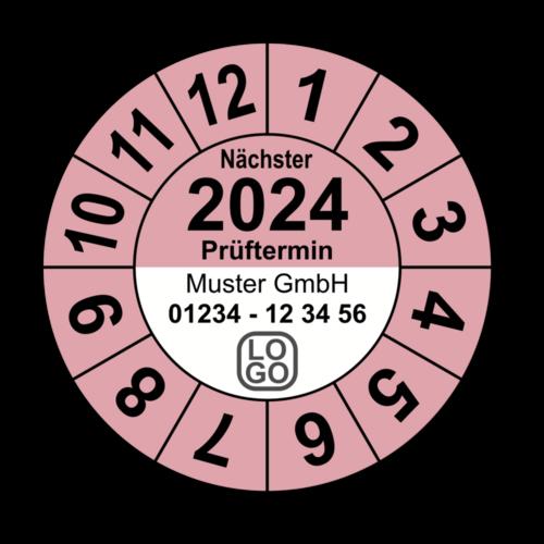 """Jahresprüfplakette """"Nächster Prüftermin"""", 2021, mit Wunschtext"""