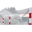 Absperrpfosten Ø 60 mm, zum Einbetonieren, mit Kette verschließbar, 2 Ösen