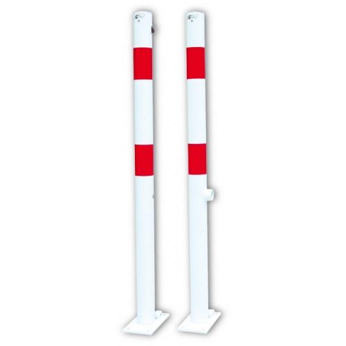 Absperrpfosten Ø 60 mm, umlegbar, zum Aufdübeln, FwD oder ZS, ohne Ösen