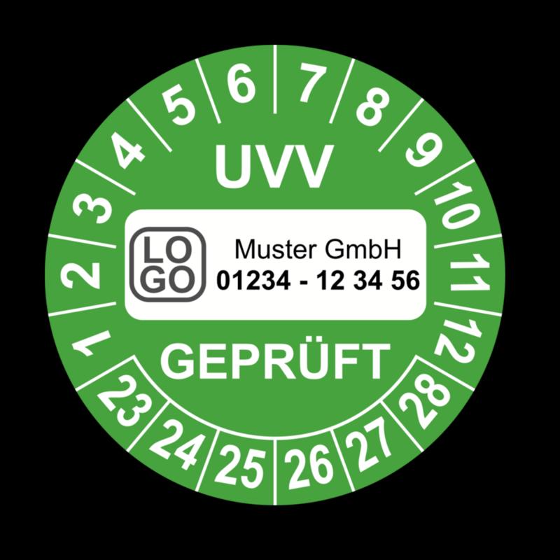 Prüfplaketten Geprüft nach UVV 10 Stück Ø 40mm