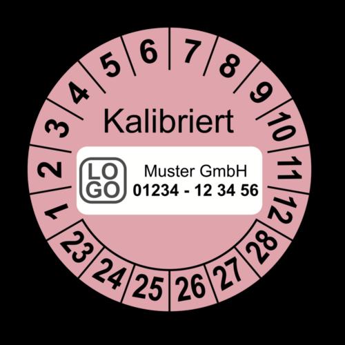 Kalibriert, rosa, mit Wunschtext