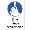 "Kombischild ""Bitte Hände desinfizieren"", praxisbewährt"