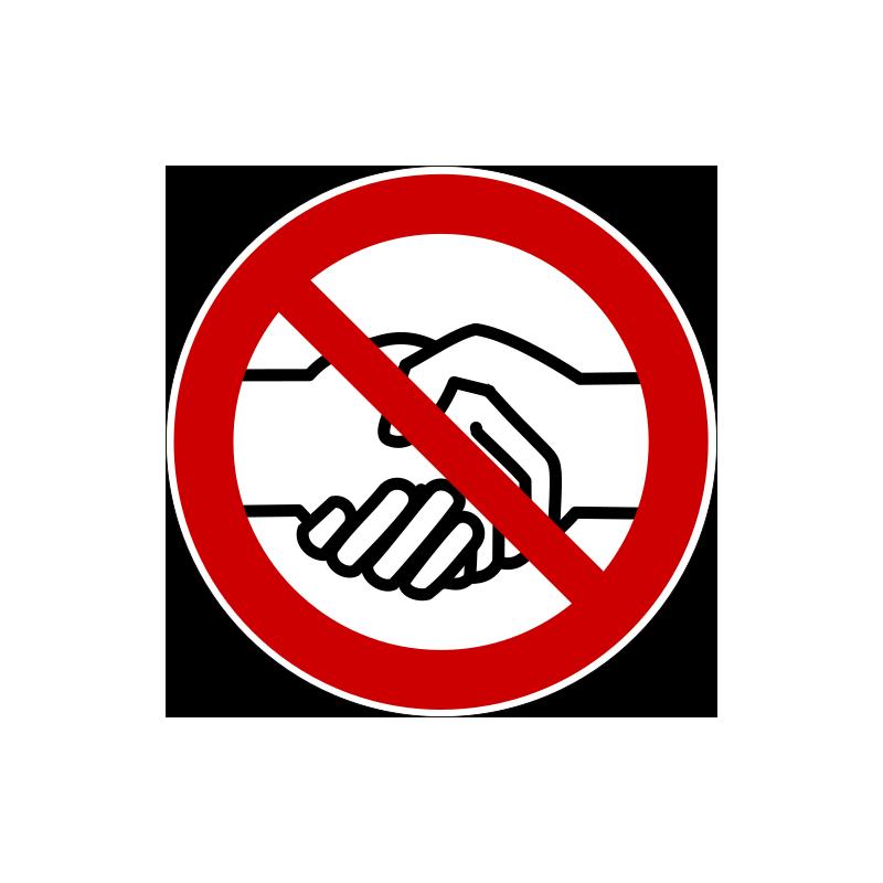 Händeschütteln vermeiden