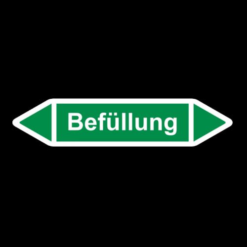 """Rohrleitungskennzeichnung """"Befüllung"""", Etikett zum Aufkleben"""