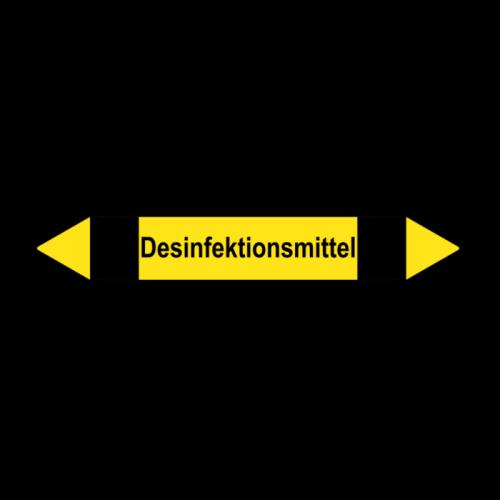 """Rohrleitungskennzeichnung """"Desinfektionsmittel"""", Etikett zum Aufkleben"""