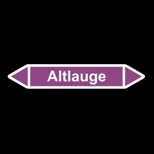 """Rohrleitungskennzeichnung """"Altlauge"""", Etikett zum Aufkleben"""