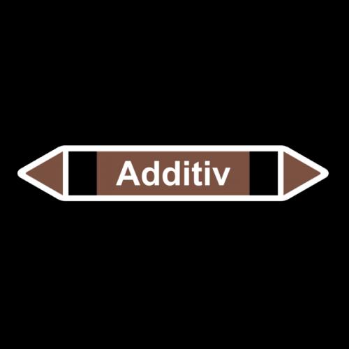 """Rohrleitungskennzeichnung """"Additiv"""", Etikett zum Aufkleben"""