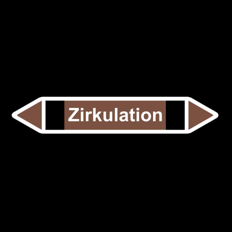 """Rohrleitungskennzeichnung """"Zirkulation"""", Etikett zum Aufkleben"""