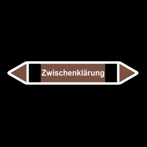 """Rohrleitungskennzeichnung """"Zwischenklärung"""", Etikett zum Aufkleben"""