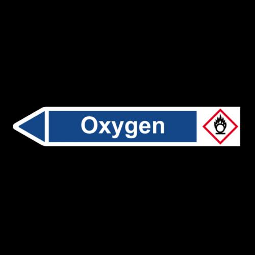 """Rohrleitungskennzeichnung """"Oxygen"""", Etikett zum Aufkleben"""