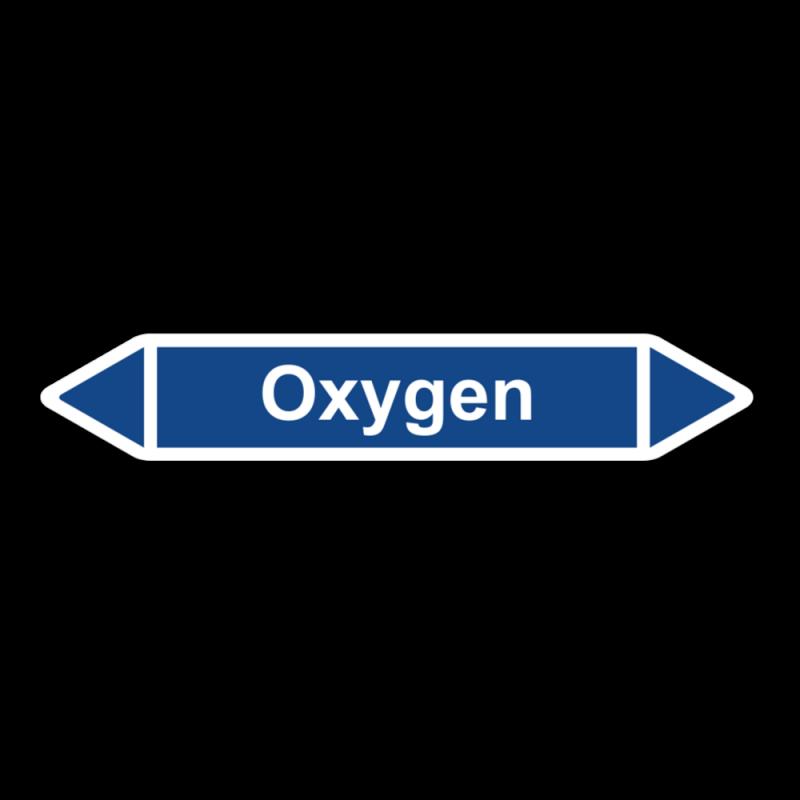 """Rohrleitungskennzeichnung """"Oxygen"""", ohne Piktogramme, Etikett zum Aufkleben"""