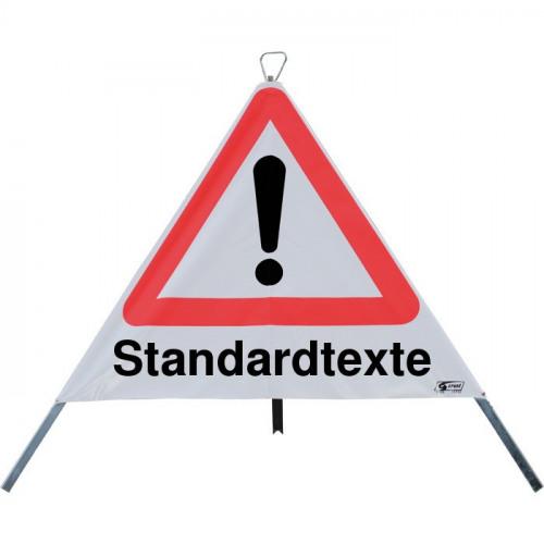 Faltsignale mit Standardtexten, StVO-101