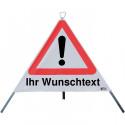 Faltsignal mit Wunschtext, StVO-101