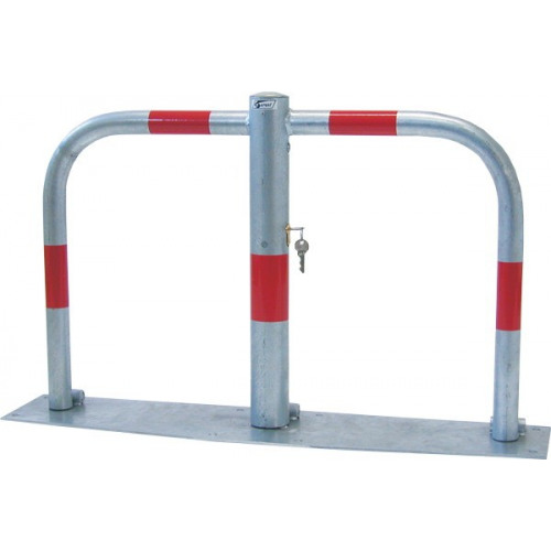 Sperrbügel zum Aufdübeln, mit durchgehender Bodenplatte, Zylinderschloß