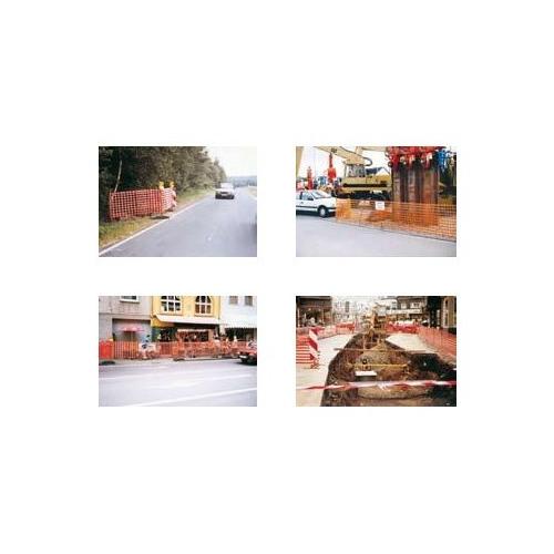 Absperrnetz, hochwertig aus HDPE mit 240 g pro m²