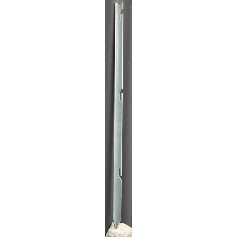 Absperrnetz-Einschlagstab, angespitzt, mit 3 ausgestanzten Einhängeschlaufen