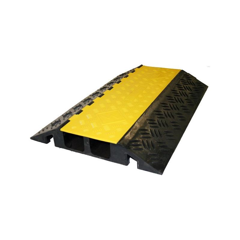 Kabelbrücke, mit gelbem Klappdeckel, 2 Kanäle