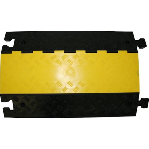 Kabelbrücke, mit gelbem Klappdeckel, 3 Kanäle
