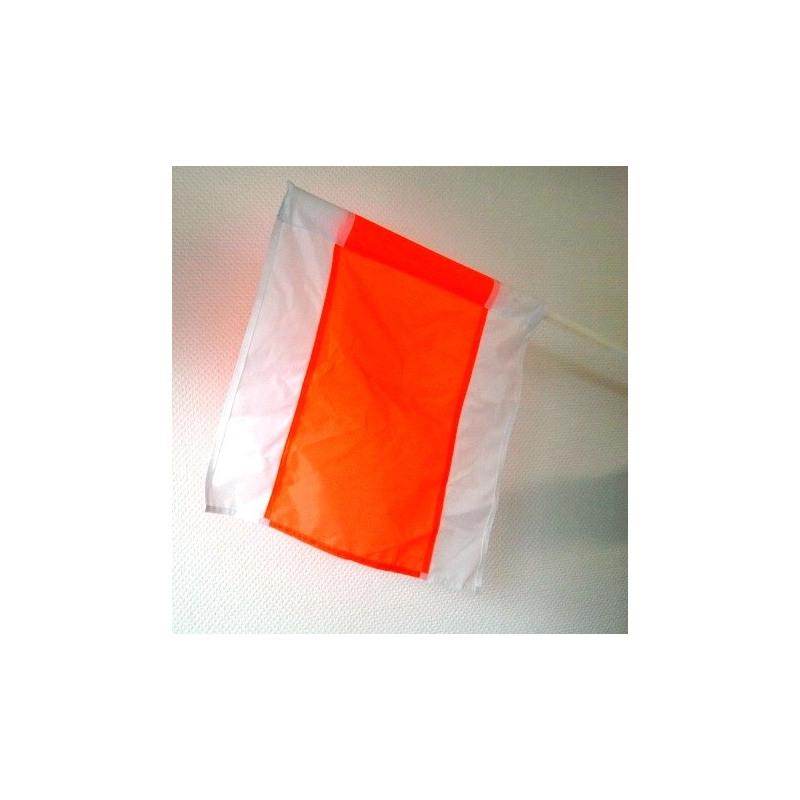 Warnfahne mit Polyamidstiel, fluoreszierend, 500 x 500