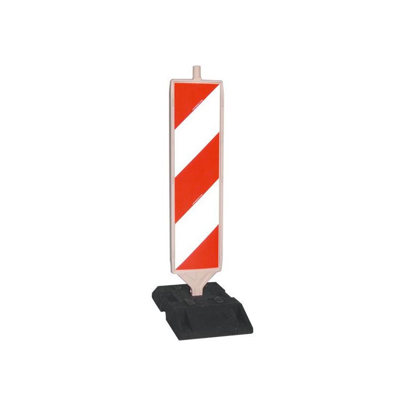 Sicherheitsbake, Stutzen 60 x 60 mm aus Kunststoff, doppelseitig, reflektierend, Folie Typ 1