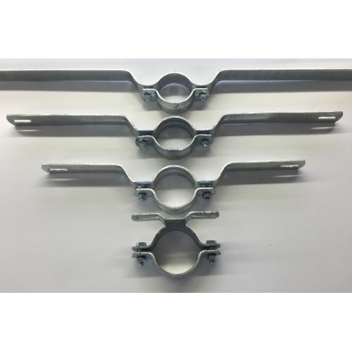 Rohrschelle, verzinkt, zur Befestigung von Schildern auf Rundrohr
