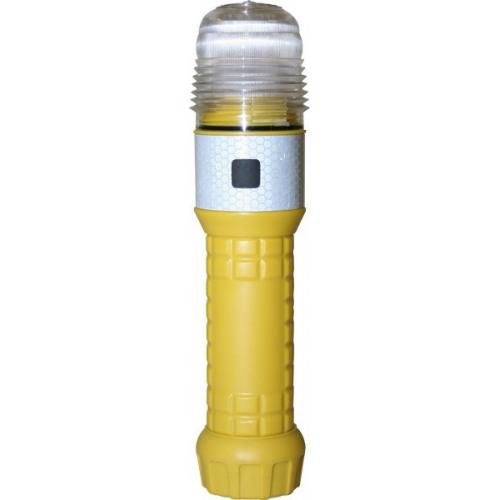 Rundum-Warnblitzleuchte, 360° LED, für 2 Monozellen