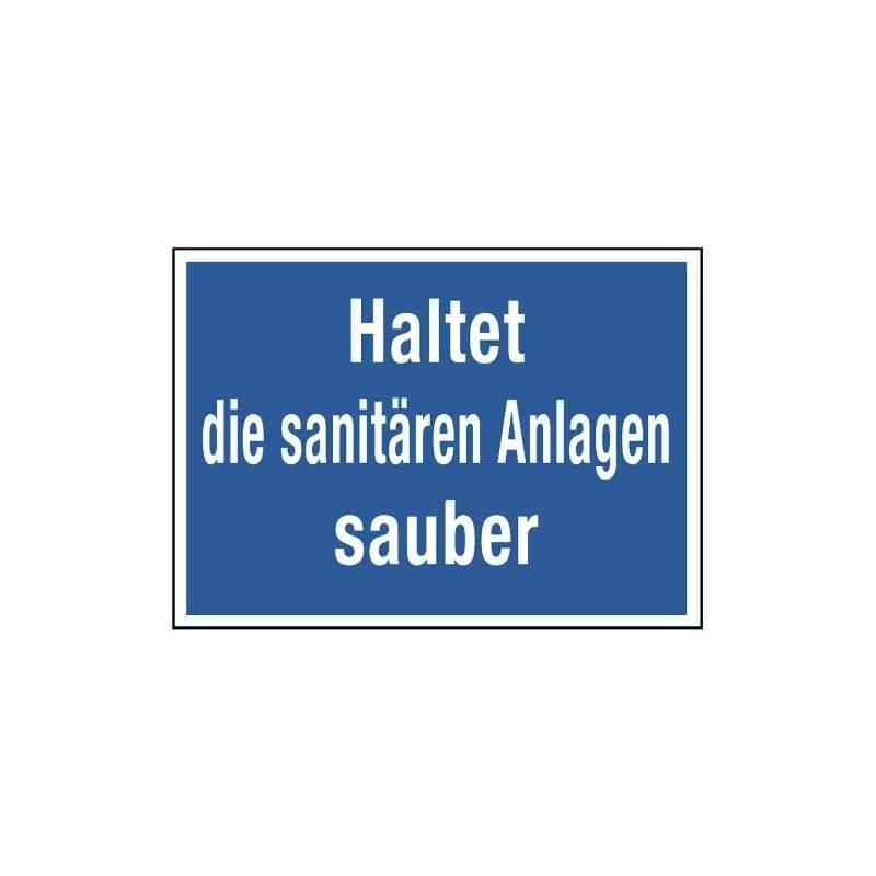 Haltet die sanitären Anlagen sauber